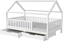 Massivholz »Luca« Baby-/Kinderbett weiß 80x160