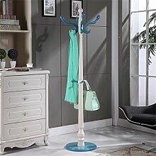 Massivholz Mantel Racks Boden Kleiderbügel Modern Simplicity Hochwertige Kleiderbügel European Style ( farbe : Blau )