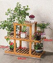 Massivholz Mehrstöckige Boden Pflanze Stand Blumentopf Regal Blume Rack Für Balkon Wohnzimmer Indoor ( größe : D )