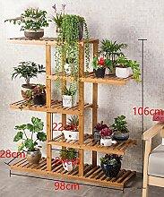 Massivholz Mehrstöckige Boden Pflanze Stand Blumentopf Regal Blume Rack Für Balkon Wohnzimmer Indoor ( größe : B )