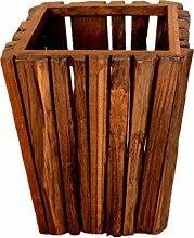 Massivholz Mülleimer kreative Mülleimer Material Holz Größe 26 * 26 * 33cm Haushalt Mülleimer