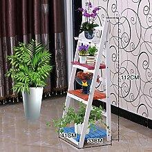 Massivholz Multi - Storey Regal Einfache Garten Innen Falten Blumentopf Rack Creative Floor Type Regale (mehrfarbig optional) ( farbe : 1003 )