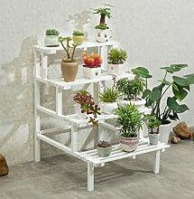 Massivholz rechtwinkliges Blütengestell, Multi-Fleisch-Mehrschicht-Leiter Boden-Stil Grüner Rettich-Balkon Töpfe Regal 50 × 60cm ( Farbe : #2 , größe : 60*80cm )