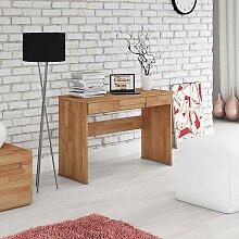 Massivholz Schreibtisch aus Buche geölt Schubladen