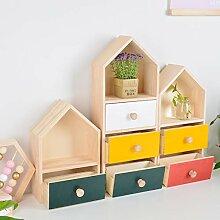 Massivholz Schublade-Stil mehrstöckige Nachttisch