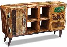 Massivholz Sideboard Kommode Schrank Anrichte Konsole Teak Sheesham Antik Retro