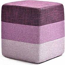 Massivholz sofa hocker, mode Kreative Kleine bank Haushalt Schuh Schuh Tuch couchtisch hocker Runde hocker ( Farbe : #7 )