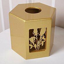 Massivholz Startseite Holz Pump Tissue Box Serviette Karton Papier Box 157 * 157 * 141mm ( Farbe : B )