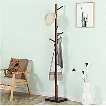 Massivholz Stehmantel Baum Hut Kleiderbügel mit 8