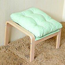 Massivholz Stoff Sofa Fußbank Hocker (stark und robust) ( farbe : #5 )