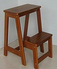 Massivholz Stuhl Leiter Startseite Kreative Multifunktionsleiter Indoor Leitern Trittleiter Treppe ( Farbe : 1# , größe : 48*55cm )