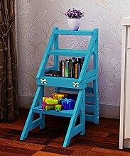 Massivholz Stuhl Leiter Trittleiter Treppe Zuhause Klappleiter Vier Schichten Leiter Hocker Multifunktion Sessel ( Farbe : 3# , größe : 40*65*84cm )