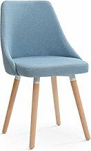 Massivholz Stuhl Mode Nordeuropa Rückenlehne Esszimmerstuhl Haushalt Hocker Modernen minimalistischen Tuch Schreibtisch und Stuhl Restaurant ( Farbe : #1 )