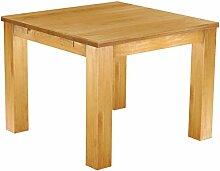 Massivholz Tisch 100x100 - Farbton Honig - Pinien