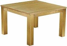 Massivholz Tisch 120x120 - Farbton Brasil - Pinien