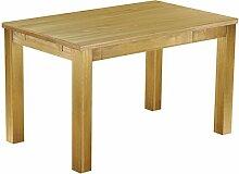 Massivholz Tisch 130x80 - Farbton Brasil - Pinien