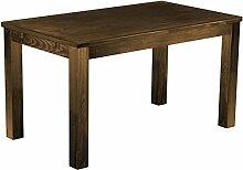 Massivholz Tisch 140x80 - Farbton Eiche antik -