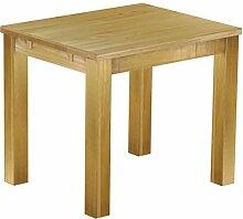 Massivholz Tisch 90x73 - Farbton Brasil - Pinien
