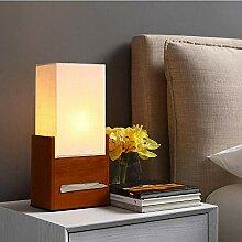 Massivholz Tischlampe Tissue Box Nachttischlampe,