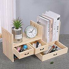 Massivholz-Tischregal Mini-Bücherregal