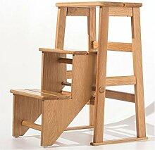 Massivholz Treppen Stuhl Leiter Stuhl Home Falten klettern Leiter Leiter Hocker Multifunktions kreative Dual Verwendung Stuhl Leiter