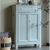Massivholz Wäscheschrank in Grau lackiert Kiefer