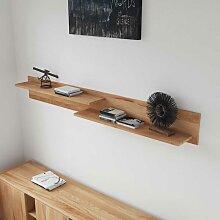 Massivholz Wandboard mit 2 Ablagen Kernbuche geölt