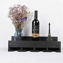 Massivholz Weinregal, moderner Weinschrank,