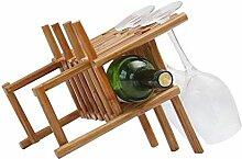 Massivholz Weinregal Wohnzimmer Weinflaschenhalter
