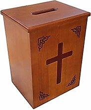 Massivholz-Widmungsbox Geschnitzte Mailbox