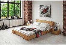 Massivholzbett Bett Schlafzimmerbett MESA Eiche