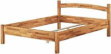Massivholzbett Buche natur 140x200 Doppelbett Bettgestell französisches Bett 60.73-14 oR
