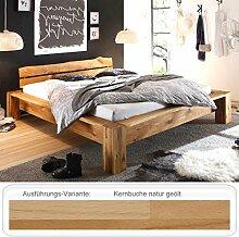 Massivholzbett Franco 140x200 Kernbuche geölt Holzbett Singlebett Bett Schlafzimmer
