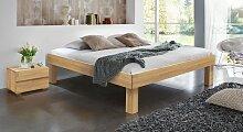 Massivholzbett Komfort, 90x190 cm, Buche natur