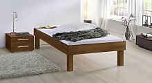 Massivholzbett Komfort, 90x200 cm, Buche