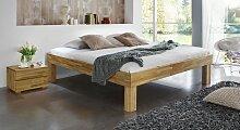 Massivholzbett Komfort, 90x200 cm, Kernbuche natur
