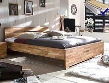 Massivholzbett Savin 200x200 Wildeiche geölt Doppelbett Ehebett Schlafzimmer Holzbett Bett Lattenrost Matratze