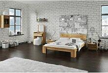 Massivholzbett Schlafzimmerbet MAISON XL Eiche