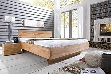 Massivholzbett Schlafzimmerbett - ELO - Bett Kernbuche 140x200 cm