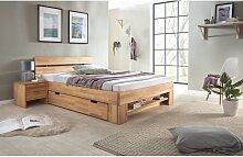 Massivholzbett Schlafzimmerbett FRANKO Set 1
