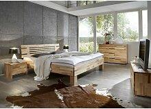 Massivholzbett Schlafzimmerbett - LANDO - Bett