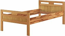 Massivholzbett Seniorenbett Buche natur 90x200 Einzelbett Hohes Bett Komforthöhe 60.74-09 oR