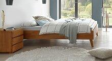 Massivholzbett Soprenia, 120x200 cm, Buche