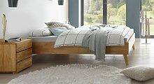 Massivholzbett Soprenia, 120x200 cm, Kernbuche