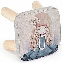 Massivholzgewebe kreativ Schuhhocker wechseln Kinder-Sofa-Hocker (Mehrfache Arten vorhanden) ( Farbe : 7 )