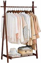Massivholzregale für hängende Kleidung