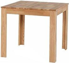 Massivholztisch aus Eiche geölt quadratisch