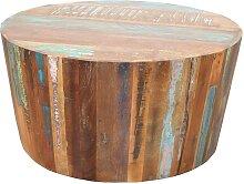 Massivholztisch in Bunt Shabby Chic Look
