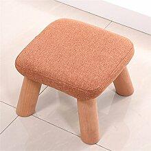 Massivholzwechsel Schuh Hocker Fußschemel Test Schuh Hocker Runde Gepolsterte Fußschemel 4 Holz Bein Pouffes Hocker Stoff Abdeckung ( farbe : #5 )