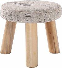 Massivholzwechsel Schuh Hocker Fußschemel Test Schuh Hocker Runde Gepolsterte Fußschemel 3/4 Holz Bein Pouffes Hocker Stoff Abdeckung ( farbe : # 3 )